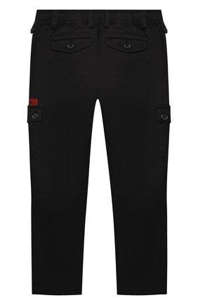 Детские хлопковые брюки DOLCE & GABBANA черного цвета, арт. L43P26/G7YGG/8-14   Фото 2