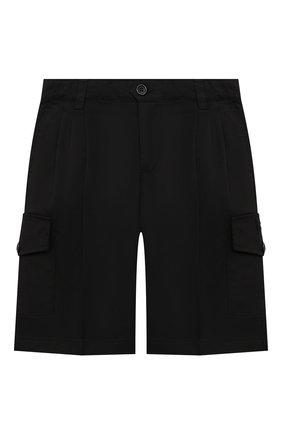 Детские хлопковые шорты DOLCE & GABBANA черного цвета, арт. L42Q82/FUFJR/2-6 | Фото 1
