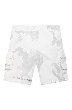 Детские хлопковые шорты DOLCE & GABBANA светло-серого цвета, арт. L1JQI3/G7YIT | Фото 2