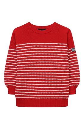 Детский хлопковый пуловер EMPORIO ARMANI красного цвета, арт. 3K4M56/4M19Z | Фото 1