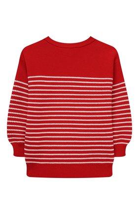 Детский хлопковый пуловер EMPORIO ARMANI красного цвета, арт. 3K4M56/4M19Z | Фото 2