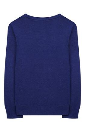 Детский пуловер из вискозы EMPORIO ARMANI синего цвета, арт. 3K4M58/4MFPZ | Фото 2