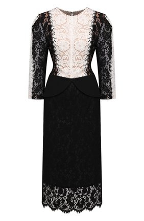 Женское хлопковое платье ULYANA SERGEENKO черно-белого цвета, арт. ABM006FW21NY(2093т20) | Фото 1