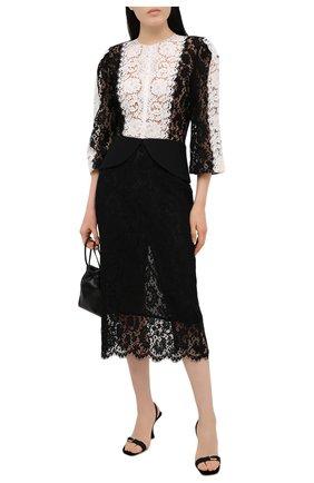 Женское хлопковое платье ULYANA SERGEENKO черно-белого цвета, арт. ABM006FW21NY(2093т20) | Фото 2