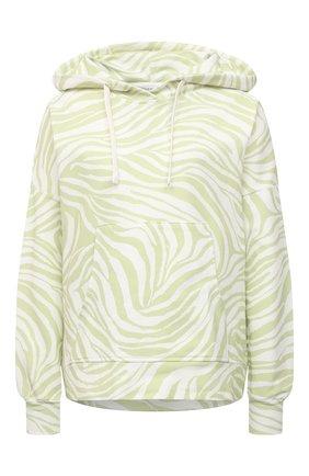 Женская хлопковое худи EVA B.BITZER светло-зеленого цвета, арт. 11323336 | Фото 1
