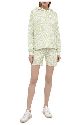 Женская хлопковое худи EVA B.BITZER светло-зеленого цвета, арт. 11323336 | Фото 2