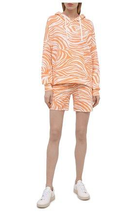 Женская хлопковое худи EVA B.BITZER оранжевого цвета, арт. 11323336 | Фото 2