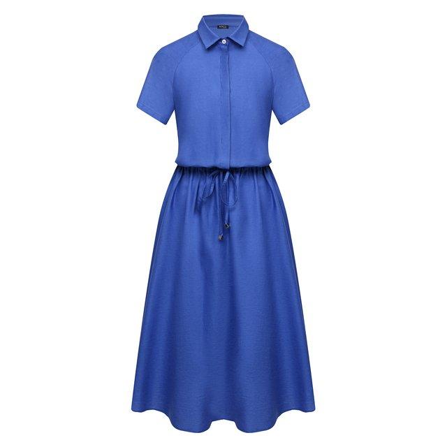 Платье из хлопка и льна Kiton