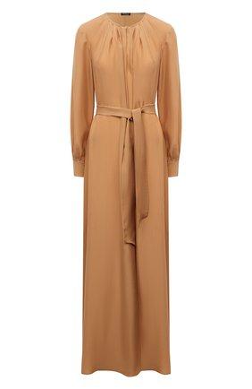 Женское шелковое платье KITON золотого цвета, арт. D51332K09T62 | Фото 1