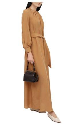 Женское шелковое платье KITON золотого цвета, арт. D51332K09T62 | Фото 2