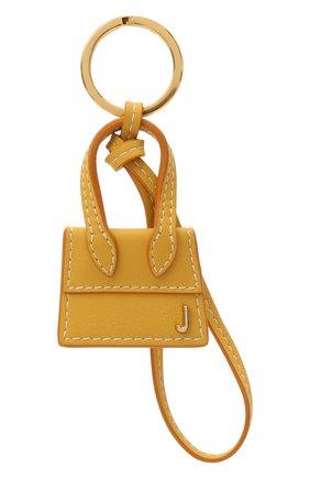 Женский кожаный брелок для ключей le chiquito JACQUEMUS желтого цвета, арт. 211AC20 | Фото 1
