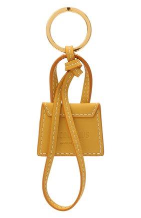 Женский кожаный брелок для ключей le chiquito JACQUEMUS желтого цвета, арт. 211AC20 | Фото 2