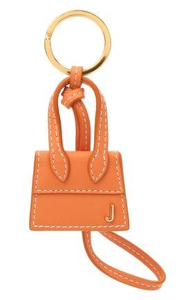Женский кожаный брелок для ключей le chiquito JACQUEMUS оранжевого цвета, арт. 211AC20 | Фото 1