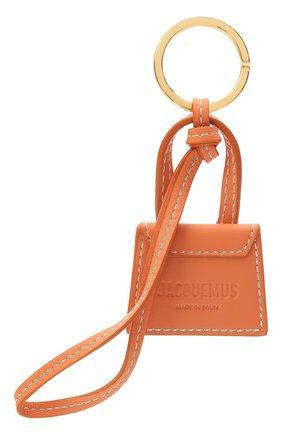 Женский кожаный брелок для ключей le chiquito JACQUEMUS оранжевого цвета, арт. 211AC20 | Фото 2