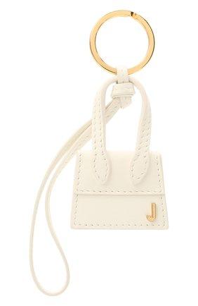 Женский кожаный брелок для ключей le chiquito JACQUEMUS белого цвета, арт. 211AC20 | Фото 1