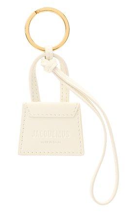 Женский кожаный брелок для ключей le chiquito JACQUEMUS белого цвета, арт. 211AC20 | Фото 2