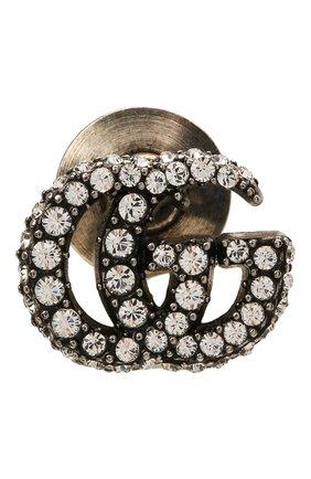 Женская брошь gg marmont  GUCCI серебряного цвета, арт. 645604/J3F42   Фото 1