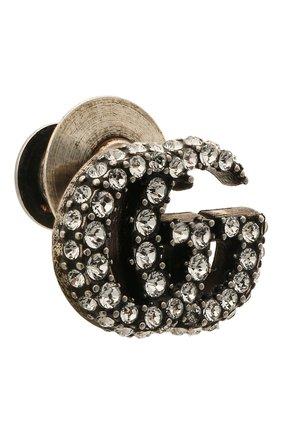 Женская брошь gg marmont  GUCCI серебряного цвета, арт. 645604/J3F42   Фото 2