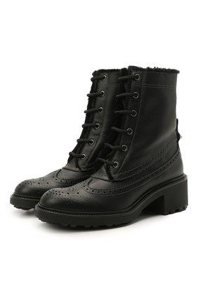 Женские кожаные ботинки franne CHLOÉ черного цвета, арт. CHC21S381P7 | Фото 1