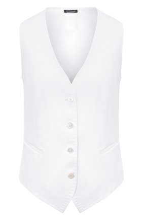 Женский льняной жилет KITON белого цвета, арт. D47456K01057 | Фото 1
