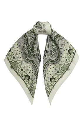 Женский шелковый платок ACNE STUDIOS зеленого цвета, арт. CA0125/W   Фото 1