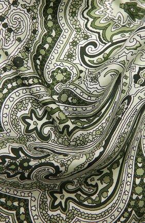 Женский шелковый платок ACNE STUDIOS зеленого цвета, арт. CA0125/W   Фото 2
