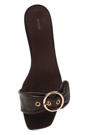 Женские кожаные мюли heze NEOUS темно-коричневого цвета, арт. 00274N16 | Фото 5