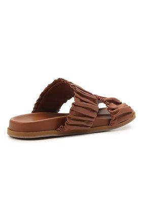 Женские кожаные шлепанцы SANTONI светло-коричневого цвета, арт. WHYE59411FPGTPPTC31   Фото 4