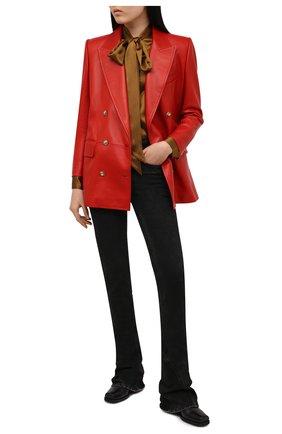 Женский кожаный жакет SAINT LAURENT красного цвета, арт. 648330/Y50A2 | Фото 2