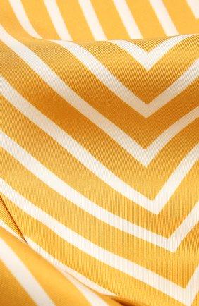 Женский шелковый платок LORO PIANA желтого цвета, арт. FAL5509   Фото 2 (Материал: Текстиль, Шелк; Принт: С принтом)