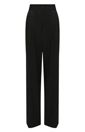Женские шерстяные брюки SAINT LAURENT черного цвета, арт. 634975/Y512W | Фото 1
