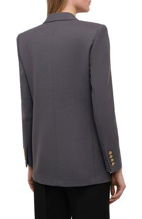 Женский шерстяной жакет SAINT LAURENT серого цвета, арт. 648754/Y7B73   Фото 4