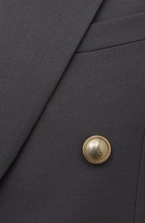 Женский шерстяной жакет SAINT LAURENT серого цвета, арт. 648754/Y7B73   Фото 5