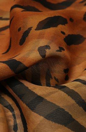 Женский шелковый шарф SAINT LAURENT леопардового цвета, арт. 648979/3Y035 | Фото 2