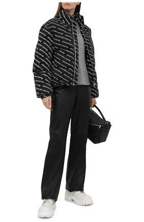 Женский джинсовый пуховик DENIM X ALEXANDER WANG серого цвета, арт. 4DC1212885   Фото 2