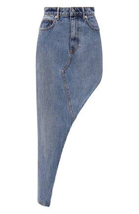 Женская джинсовая юбка DENIM X ALEXANDER WANG голубого цвета, арт. 4DC1215807   Фото 1