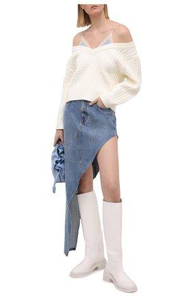 Женская джинсовая юбка DENIM X ALEXANDER WANG голубого цвета, арт. 4DC1215807   Фото 2