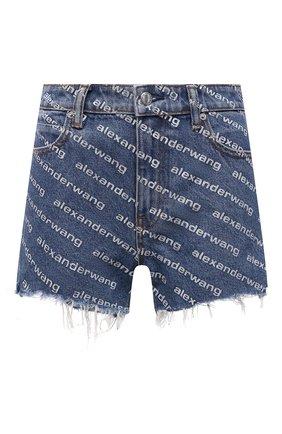Женские джинсовые шорты DENIM X ALEXANDER WANG синего цвета, арт. 4DC1214897 | Фото 1 (Материал внешний: Хлопок; Стили: Спорт-шик; Женское Кросс-КТ: Шорты-одежда; Длина Ж (юбки, платья, шорты): Мини; Принт: С принтом; Кросс-КТ: Деним)