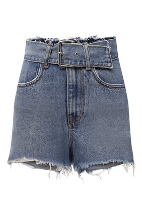 Женские джинсовые шорты DENIM X ALEXANDER WANG голубого цвета, арт. 4DC1214872   Фото 1
