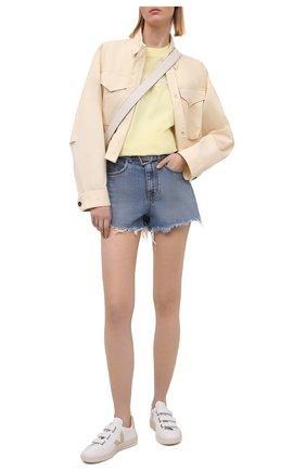 Женские джинсовые шорты DENIM X ALEXANDER WANG голубого цвета, арт. 4DC1214872   Фото 2