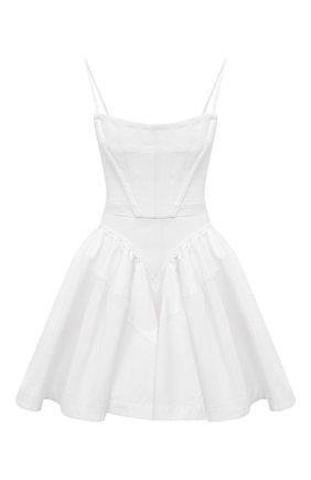 Женское хлопковое платье ALEXANDER WANG белого цвета, арт. 1WC2206314 | Фото 1