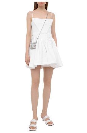 Женское хлопковое платье ALEXANDER WANG белого цвета, арт. 1WC2206314 | Фото 2