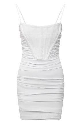 Женское хлопковое платье ALEXANDER WANG белого цвета, арт. 1WC2206313 | Фото 1