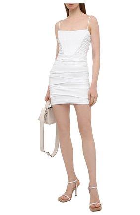 Женское хлопковое платье ALEXANDER WANG белого цвета, арт. 1WC2206313 | Фото 2