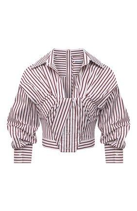 Женская хлопковая рубашка ALEXANDER WANG бордового цвета, арт. 1WC2201368   Фото 1
