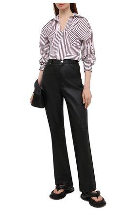 Женская хлопковая рубашка ALEXANDER WANG бордового цвета, арт. 1WC2201368   Фото 2
