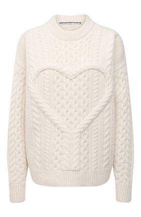 Женский шерстяной свитер ALEXANDER WANG светло-бежевого цвета, арт. 1KC2201019 | Фото 1