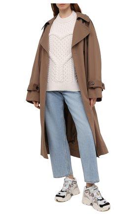 Женский шерстяной свитер ALEXANDER WANG светло-бежевого цвета, арт. 1KC2201019 | Фото 2