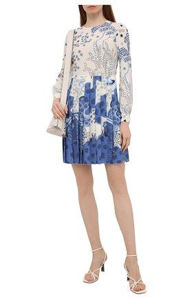 Женское платье REDVALENTINO голубого цвета, арт. VR3VAW80/5S0   Фото 2