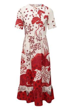 Женское шелковое платье REDVALENTINO красного цвета, арт. VR3VA7M5/5M0 | Фото 1